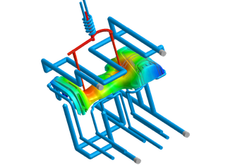 Improved and extended cooling simulation in Moldex3D 2020